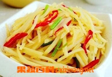 果蔬百科酸辣土豆丝的家常做法